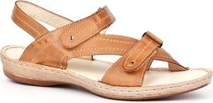 Sandały Escott na rzepy ze skóry w młodzieżowym stylu