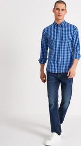 Niebieska koszula Diverse w stylu casual z długim rękawem z klasycznym kołnierzykiem