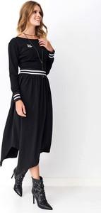 Sukienka Makadamia asymetryczna z bawełny