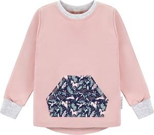 Różowa bluzka dziecięca Ekoubranka z bawełny