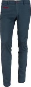 Niebieskie spodnie Graso Moda z bawełny w stylu casual