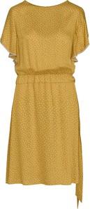 Żółta sukienka Lavard z krótkim rękawem