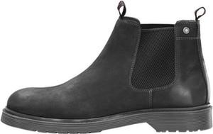 Czarne buty zimowe Jack & Jones ze skóry
