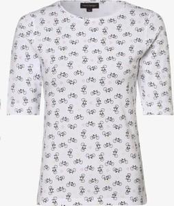 Bluzka Franco Callegari z okrągłym dekoltem z bawełny z krótkim rękawem
