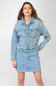 Niebieska kurtka ORSAY z jeansu w stylu casual krótka
