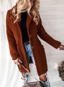 Brązowy płaszcz SELFIEROOM w stylu casual