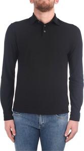 Czarna koszulka z długim rękawem Zanone z długim rękawem