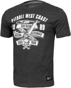 Czarny t-shirt Pit Bull w młodzieżowym stylu z krótkim rękawem
