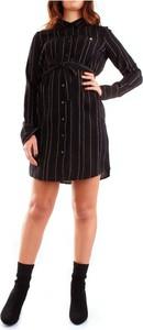 Czarna sukienka Patrizia Pepe mini z bawełny