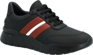 Czarne buty sportowe Bally ze skóry