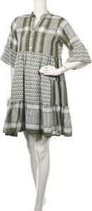 Sukienka Zwillingsherz mini w stylu casual z okrągłym dekoltem