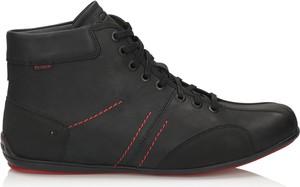 Czarne buty zimowe Kazar sznurowane z nubuku