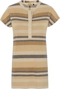 Bluzka Ochnik w stylu casual z okrągłym dekoltem z krótkim rękawem