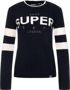 Granatowy sweter Superdry w stylu casual