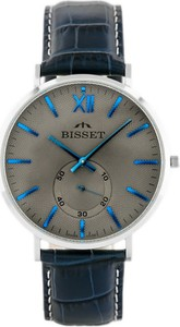 ZEGAREK MĘSKI BISSET BSCE74SWVD (zb066b) - Niebieski || Srebrny