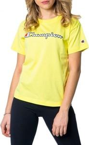 Żółta bluzka Champion w sportowym stylu z okrągłym dekoltem