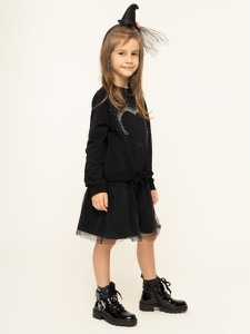 Czarna sukienka dziewczęca Guess