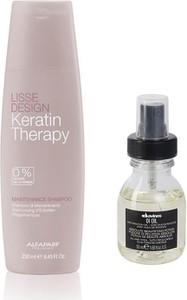 Alfaparf Milano Alfaparf Keratin Therapy Maintenance and OI Oil | Zestaw do wygładzenia i regeneracji włosów: szampon 250ml + olejek 50ml - Wysyłka w 24H!