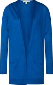 Niebieski sweter Esprit w stylu casual z dzianiny