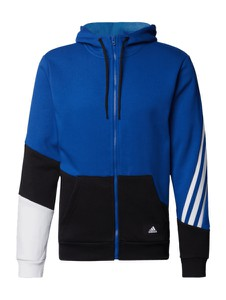 Niebieska bluza Adidas Performance w sportowym stylu z bawełny