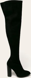 Czarne kozaki Glamorous w stylu glamour za kolano
