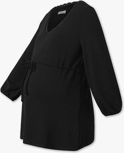 Czarny t-shirt YESSICA w stylu casual
