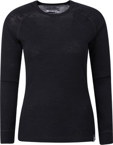 Czarny t-shirt Mountain Warehouse z wełny