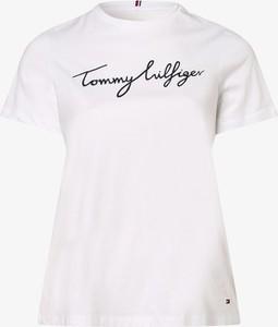 T-shirt Tommy Hilfiger z bawełny z okrągłym dekoltem z krótkim rękawem