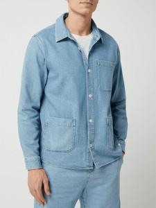 Niebieska koszula Nowadays w stylu casual z klasycznym kołnierzykiem z długim rękawem