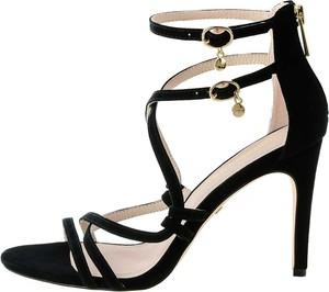 Sandały Prima Moda na wysokim obcasie z klamrami
