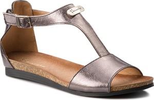 Srebrne sandały Maciejka