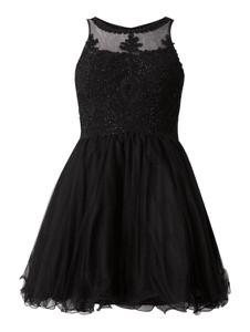 Czarna sukienka Laona bez rękawów z tiulu