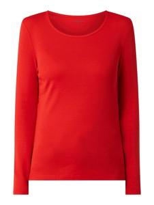 Czerwona bluzka Montego z okrągłym dekoltem