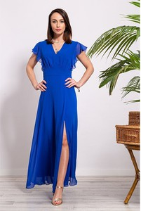 Sukienka Semper z dekoltem w kształcie litery v maxi