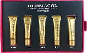 Dermacol Make-Up Cover | Zestaw 5 miniaturowych podkładów: nr 208, nr 212, nr 213, nr 215, nr 221