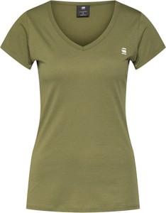 Zielona bluzka G-Star Raw z dżerseju w stylu casual z krótkim rękawem