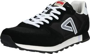 Czarne buty sportowe Pepe Jeans z zamszu sznurowane