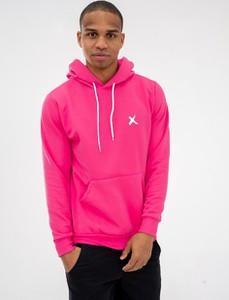 Różowa bluza Point X z bawełny w młodzieżowym stylu