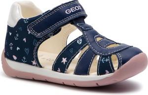 Niebieskie buty dziecięce letnie Geox na rzepy
