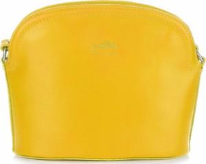 Torebki skórzane listonoszki firmy genuine leather żółte