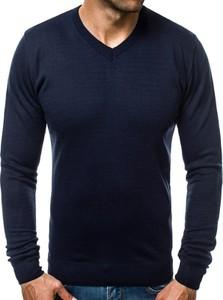 Granatowy sweter ozonee.pl