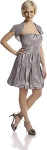 Sukienka Fokus z krótkim rękawem midi gorsetowa