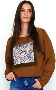 Bluza Makadamia krótka w młodzieżowym stylu z bawełny