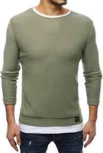 Zielony sweter Dstreet z tkaniny
