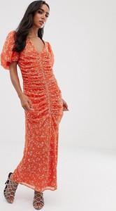 Czerwona sukienka Asos Design