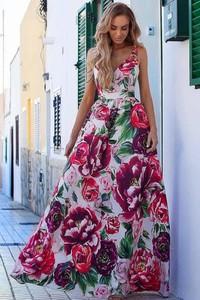 Sukienka Ivet.pl maxi bez rękawów