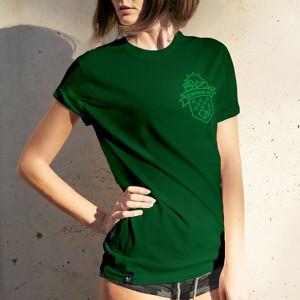 Zielony t-shirt szwendamsie.pl z bawełny z krótkim rękawem