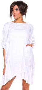 Sukienka 100% Leinen z długim rękawem oversize mini