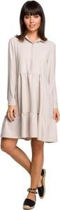 Sukienka Be mini z długim rękawem