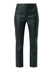 Zielone spodnie Boss Casualwear w rockowym stylu ze skóry ekologicznej
